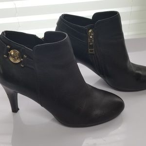Tommy Hilfiger Velesia Brown Leather Booties